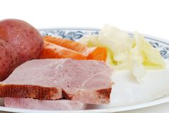 Cooked ham dinner Royalty Free Stock Photos