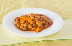 Cooked haricot beans Stock Photo