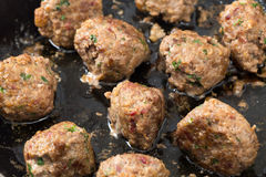 Cooked homemade meatballs Royalty Free Stock Image