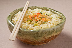 Cooked instant noodle Royalty Free Stock Images