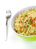 Cooked Instant Noodles Royalty Free Stock Image