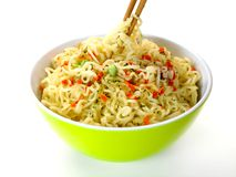 Cooked Instant Noodles Royalty Free Stock Photography