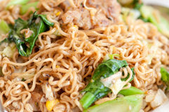 Cooked instant noodles Stock Image
