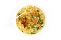 Cooked instant noodles Royalty Free Stock Images