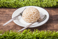 Free Cooked Jasmine Brown Rice Stock Photo - 53472030