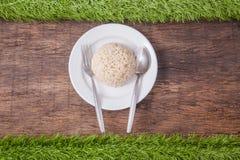 Cooked jasmine brown rice Stock Photo