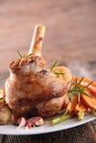 Cooked lamb chop Stock Photo