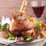 Cooked lamb chop Royalty Free Stock Images