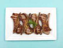 Cooked Lamb Chops Royalty Free Stock Images