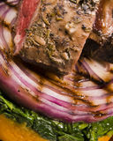 Cooked lamb meal C Stock Photo