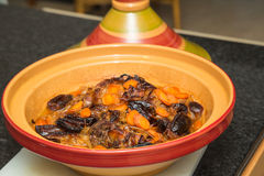 Cooked Lamb shank tagine Royalty Free Stock Photos