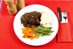 Cooked lamb shanks Stock Image