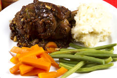 Cooked lamb shanks Royalty Free Stock Image