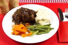 Cooked lamb shanks Stock Photos