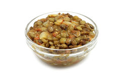 Cooked lentils in a glass Stock Photography