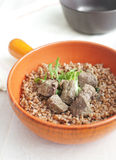 Cooked liver with buckwheat Royalty Free Stock Photography