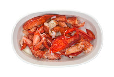Cooked lobster in a small baking dish Stock Photos