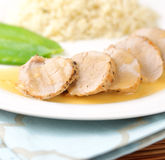 Cooked loin of pork Royalty Free Stock Photography