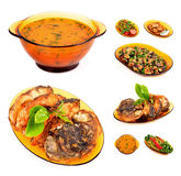 Cooked lunch menu of soup Royalty Free Stock Image