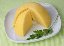 Cooked maize porridge Stock Image