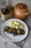 Cooked marrow rolls Royalty Free Stock Photo