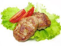 Cooked Meat Cutlets With Vegetables Royalty Free Stock Images