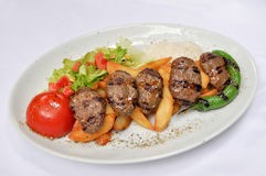 Cooked meat, grilled meatballs Stock Photos
