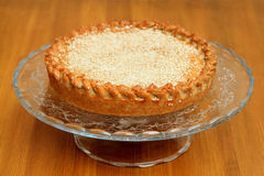 Cooked meat pie with sesame on a bowl Royalty Free Stock Images