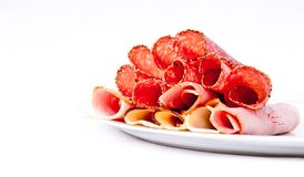 Cooked meat platter Stock Photo
