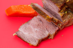 Cooked meat with pumpkin Royalty Free Stock Images