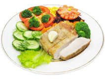 Cooked meat with vegetables Royalty Free Stock Image