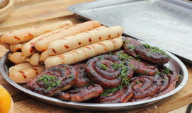 Cooked meats grill Royalty Free Stock Photos