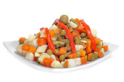 Cooked mixed vegetables Stock Photo