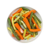 Cooked Mixed Vegetables In Round Bowl Stock Photo