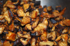 Cooked mushrooms used for cooking Royalty Free Stock Photos