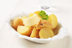 Cooked new potatoes Royalty Free Stock Photo
