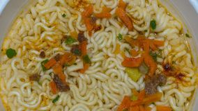 Cooked noodles, macro royalty free stock photos