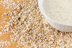 Cooked oatmeal Stock Photos