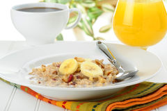 Cooked Oatmeal Royalty Free Stock Photography