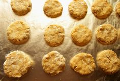 Cooked oatmeal cookies Royalty Free Stock Photos