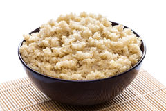 Cooked organic quinoa royalty free stock image