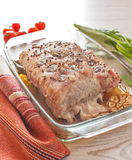 Cooked peace of meat on table Royalty Free Stock Image