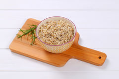 Cooked pearl barley Royalty Free Stock Photos