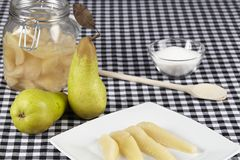 Cooked pears Stock Photos