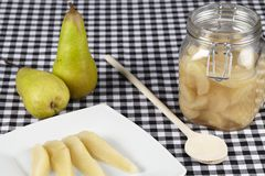 Cooked pears Royalty Free Stock Images