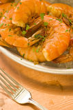 Cooked peel and eat shrimp Stock Images