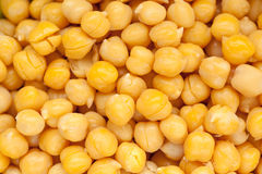 Cooked and peeled chickpeas Royalty Free Stock Images