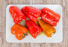 Cooked peppers Stock Photo
