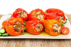 Cooked peppers Royalty Free Stock Image