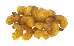 Cooked popcorn shrimp Royalty Free Stock Photos